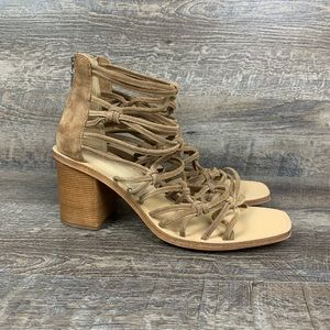 Rag & Bone Camille Suede Sandals Camel Brown 11